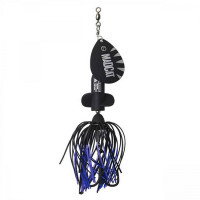 Spinnerbait Madcat A-Static Screaming Spinner 65gr Black Devil