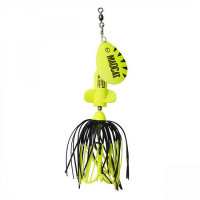 Spinnerbait Madcat A-Static Screaming Spinner 65gr Fluo Yellow UV
