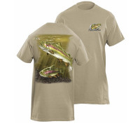 Tricou Flying Fisherman Rainbow Trout Prairie Dust Tee XXL