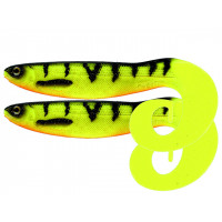 Grub Westin CurlTeez Curltail 8.5cm Fire Perch 2pcs