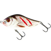 VOBLER SALMO SD10F WOUNDED REAL GREY SHINER Slider 100MM Floating