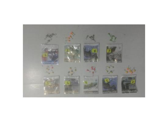 Marmuste Pescuit, 9 Modele, Nr.9, 5 Bucati/set