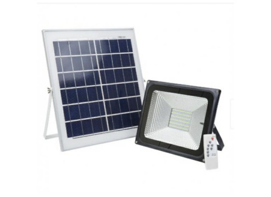 Proiector Led Solar 50w,cu Acumulator,telecomanda Si Panou Solar